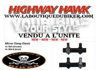 COLLIER POUR RETRO GUIDON 25 et 22...HH91-7865 CHROME...LA BOUTIQUE DU BIKER
