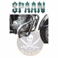 BARRE de PROTECTION MOTEUR MASH 400...SP1102 CHROME...SPAAN-LA BOUTIQUE DU BIKER