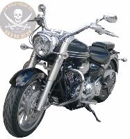 BARRE de PROTECTION MOTEUR YAMAHA 1900 MIDNIGHT STAR...SP710 CHROME...SPAAN LA BOUTIQUE DU BIKER