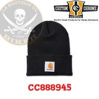 BONNET CARHARTT Acrylic Watch Hat Black...CC888945...LA BOUTIQUE DU BIKER