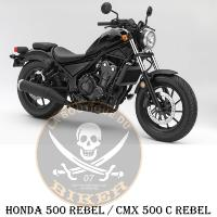 SISSI-BAR HONDA CMX 500 REBEL...35cms AVEC PORTE PAQUET CHROME...SP1408 SPAAN-LA BOUTIQUE DU BIKER