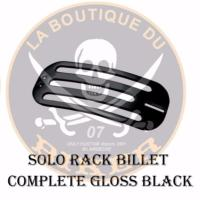 PORTE PAQUET INDIAN CHIEF SOLO RACK BILLET COMPLETE NOIR...HH668-0631BK...LA BOUTIQUE DU BIKER