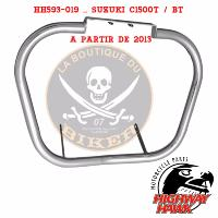 BARRE de PROTECTION MOTEUR SUZUKI C1500T INTRUDER...HH593-019...38mm CHROME...LA BOUTIQUE DU BIKER