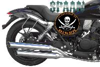 SUPORTS SACOCHES MITT 125 / 400 MB...SP1571 CHROME SPAAN LA BOUTIQUE DU BIKER
