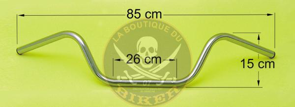 GUIDON EN 25 WISHBONE CHROME...SP399...SPAAN-LA BOUTIQUE DU BIKER