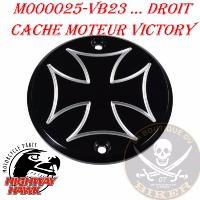 CACHE MOTEUR VICTORY DROIT...Engine cover Cross Right Black anodized Aluminum #M000025VB23
