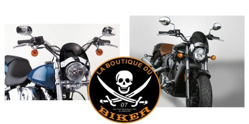 BULLE SAUTE-VENT NATIONAL CYCLE TEINTE-CHROME...MCS909567...LA BOUTIQUE DU BIKER