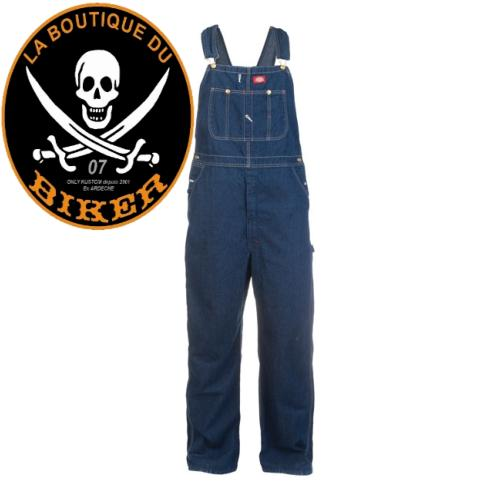 SALOPETTE DICKIES BIB OVERALL RINSED INDIGO BLUE TAILLE 50...MCS991636 #LABOUTIQUEDUBIKER