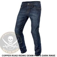 PANTALON TAILLE 38...KEVLAR COPPER ROAD RIDING DENIM PANTS DARK RINSE...PE28210872