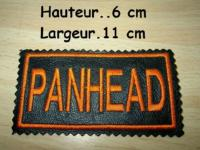 PATCHE BRODE...CUIR PETIT MODELE...PatchCuir-Panhead