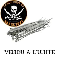 ATTACHE CABLE 10cm CHROME...MCS508511...LA BOUTIQUE DU BIKER