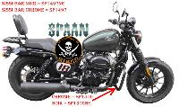 BARRE de PROTECTION MOTEUR HYOSUNG 125 AQUILA BOBBER CHROME...SP1506 SPAAN LA BOUTIQUE DU BIKER