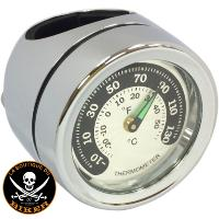 THERMOMETRE DE GUIDON POUR GUIDON DE 25 mm...PE22120724 DRAG SPECIALTIES BAR MOUNT THERMOMETER CHROM