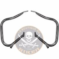 BARRE de PROTECTION SACOCHE HARLEY FLHTCU / FLHTK / FLHR 2014-2015 CHROME 32mm...PE05060789