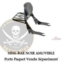 SISSI-BAR KAWASAKI S650 2015-2017 AMOVIBLE NOIR CUSTOM ACCES...SANS PORTE PAQUET...RS0047N