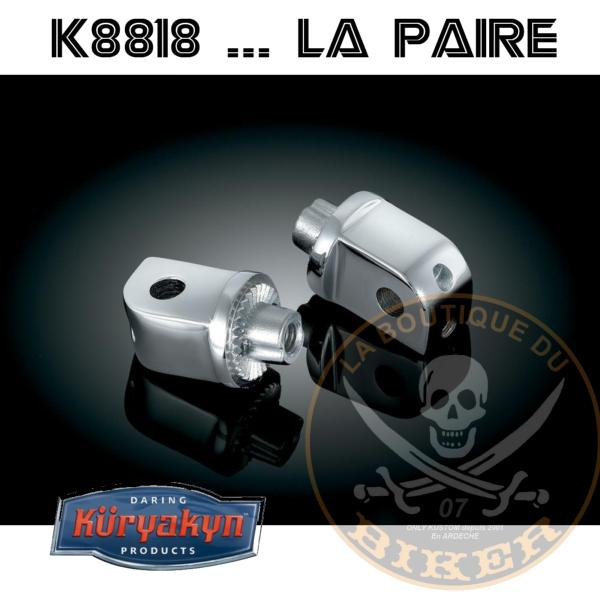 ADAPTATEUR PASSAGER POUR MARCHE PIED KURYAKYN YAMAHA XV1600 WILD STAR ...K8818
