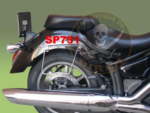 SUPORTS SACOCHES YAMAHA 1300 MIDNIGHT STAR...SP751 SPAAN-LA BOUTIQUE DU BIKER