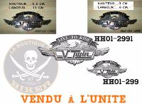 "EMBLEME ADHESIF CHROME ""LTR 110mm""...HH01-2991...LA BOUTIQUE DU BIKER"