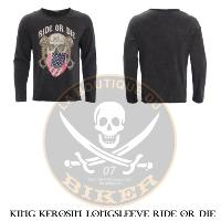 TEE-SHIRT...TAILLE L MANCHES LONGUES KING KEROSIN LONGSLEEVE RIDE OR DIE...MCS565431