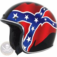 CASQUE TAILLE 55-56 S...JET FX-76 REBEL FLAG VINTAGE HELMET BLACK...PE01041649...LABOUTIQUEDUBIKER