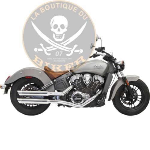 "POTS INDIAN SCOUT 2015-2020 BASSANI CHROME 3"" SLIP ON MUFFLER SLASH CUT...PE18113398"