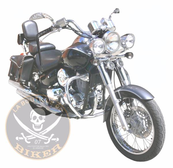 BARRE de PROTECTION MOTEUR DAELIM 125 DAYSTAR...SP740ND CHROME...SPAAN LA BOUTIQUE DU BIKER