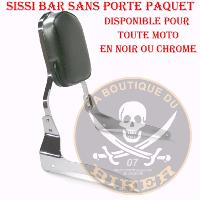 SISSI-BAR KEEWAY 125 SUPERLIGHT....SANS PORTE PAQUET CHROME.. SP650...SPAAN-LA BOUTIQUE DU BIKER