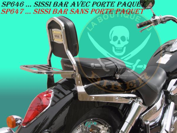 SISSI-BAR HONDA VTX1300 S...SANS PORTE PAQUET CHROME...SP647...SPAAN LA BOUTIQUE DU BIKER
