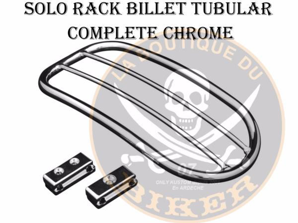 PORTE PAQUET SUZUKI C800 INTRUDER / VOLUSIA 800 SOLO RACK TUBULAR COMPLETE CHROME...H663-0171
