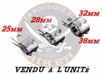 COLIER EN DIAMETRE 25 CHROME...LA BOUTIQUE DU BIKER