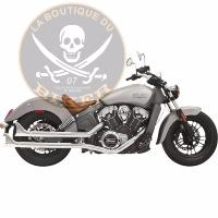 "POTS INDIAN SCOUT 2015-2016 BASSANI CHROME 2-1/4"" HOUSING W/BAFFLE AND FISHTAIL END"