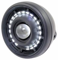 PHARE 190mm HOMOLOGUE DE TYPE LED...MONTAGE LATERAL ...HH223-150...LA BOUTIQUE DU BIKER