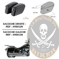 SACOCHES RIGIDES 20 Litres...KAWASAKI 650S...ARS006N LA PAIRE AVEC SUPPORTS SPECIFIQUES