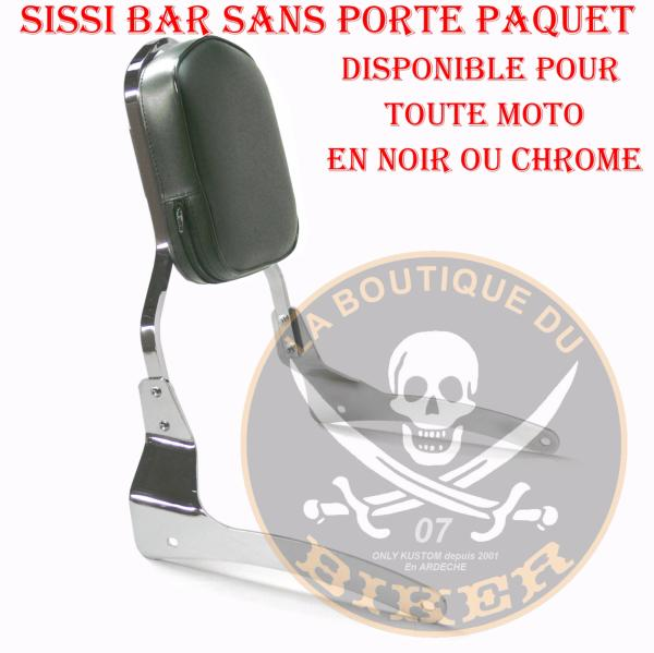 SISSI-BAR SUZUKI VL125 / VL250 INTRUDER..SANS PORTE PAQUET CHROME...SP414 SPAAN LA BOUTIQUE DU BIKER